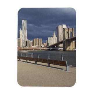 Horizonte de Manhattan, New York City Imán De Vinilo