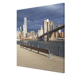 Horizonte de Manhattan, New York City Lienzo Envuelto Para Galerias