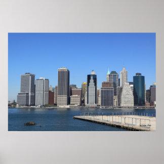 Horizonte de Manhattan, New York City Póster