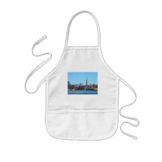Horizonte de Manhattan según lo visto de Hoboken,  Delantales