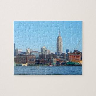 Horizonte de Manhattan según lo visto de Hoboken,  Puzzle Con Fotos