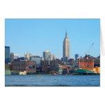 Horizonte de Manhattan según lo visto de Hoboken,  Felicitación