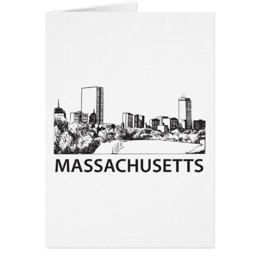 Horizonte de Massachusetts Tarjeta De Felicitación