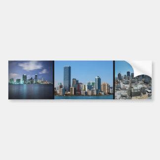 Horizonte de Miami - 3 en 1 pegatina Etiqueta De Parachoque