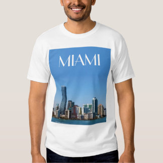Horizonte de Miami - camiseta Playeras