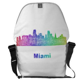 Horizonte de Miami del arco iris Bolsas De Mensajeria