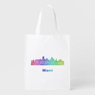 Horizonte de Miami del arco iris Bolsas Para La Compra
