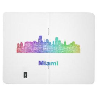 Horizonte de Miami del arco iris Cuaderno