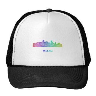 Horizonte de Miami del arco iris Gorra