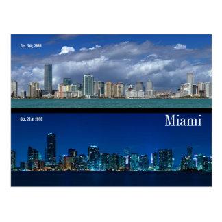 Horizonte de Miami en 2006 y 2010 Postal