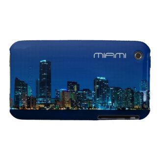 Horizonte de Miami en la noche - caso del iPhone 3 iPhone 3 Case-Mate Cárcasas