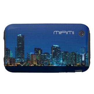 Horizonte de Miami en la noche - caso del iPhone 3 iPhone 3 Tough Coberturas