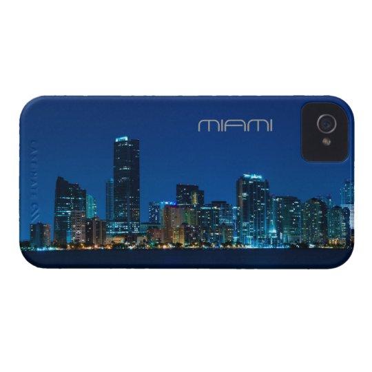 Horizonte de Miami en la noche - caso del iPhone 4 Carcasa Para iPhone 4 De Case-Mate