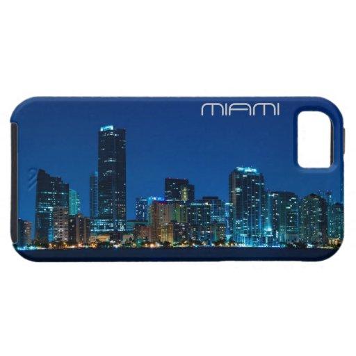 Horizonte de Miami en la noche - caso del iPhone 5 iPhone 5 Fundas