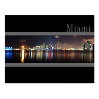 Horizonte de Miami en la postal de la foto del pan