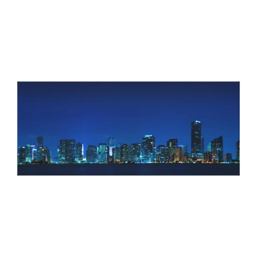 Horizonte de Miami Impresión En Lienzo