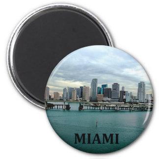 Horizonte de Miami la Florida Imán Redondo 5 Cm