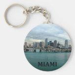 Horizonte de Miami la Florida Llavero Personalizado