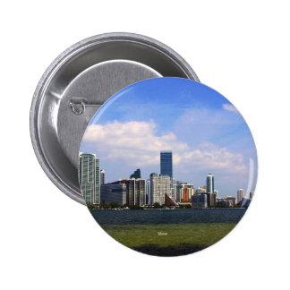 Horizonte de Miami la Florida Pins