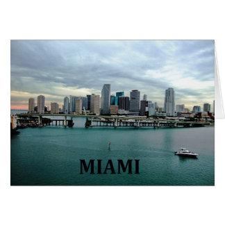 Horizonte de Miami la Florida Felicitacion