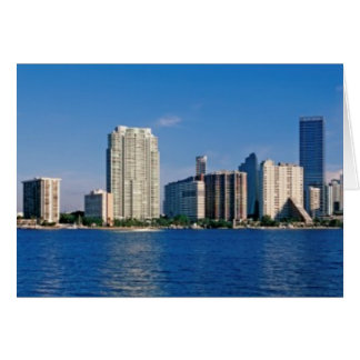 Horizonte de Miami la Florida Tarjeta