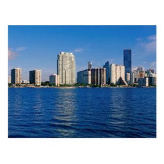 Horizonte de Miami, la Florida Tarjetas Postales