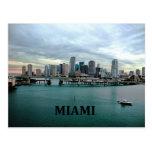 Horizonte de Miami la Florida Tarjetas Postales