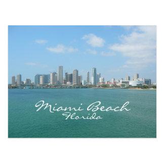 Horizonte de Miami, Miami Beach, la Florida Postales