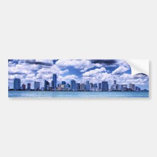 Horizonte de Miami - pegatina para el parachoques Pegatina Para Auto