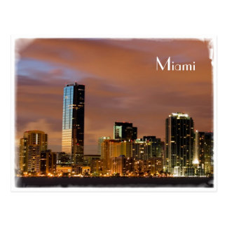 Horizonte de Miami - postal