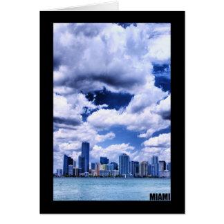 Horizonte de Miami - tarjeta de felicitación