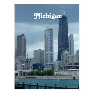 Horizonte de Michigan Postales