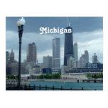 Horizonte de Michigan Tarjetas Postales