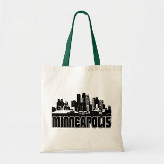Horizonte de Minneapolis Bolsas Lienzo
