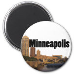 Horizonte de Minneapolis con Minneapolis en el cie Imán Redondo 5 Cm