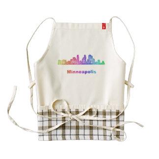 Horizonte de Minneapolis del arco iris Delantal Zazzle HEART