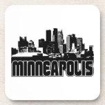 Horizonte de Minneapolis Posavasos De Bebida