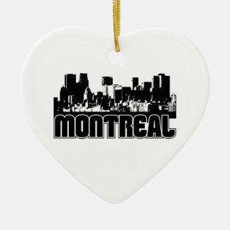 Horizonte de Montreal Adorno De Cerámica En Forma De Corazón
