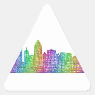 Horizonte de Montreal Pegatina Triangular