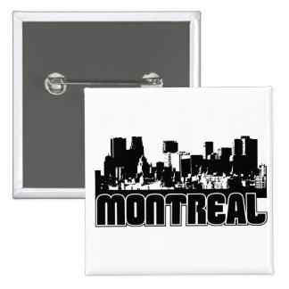 Horizonte de Montreal Pin Cuadrado