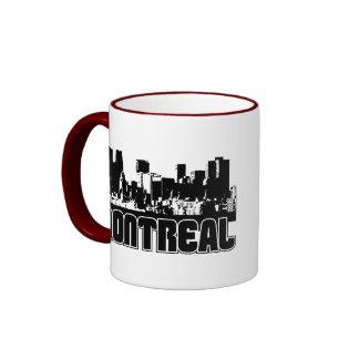 Horizonte de Montreal Taza De Dos Colores