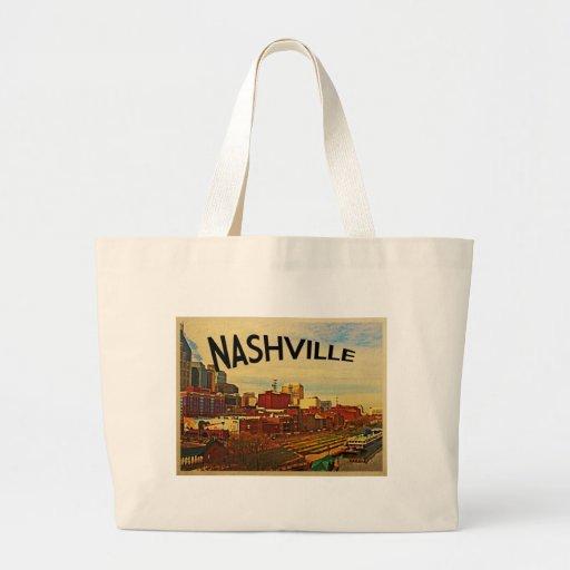 Horizonte de Nashville Tennessee Bolsa Tela Grande