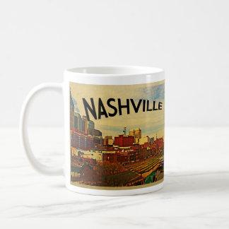 Horizonte de Nashville Tennessee Taza De Café