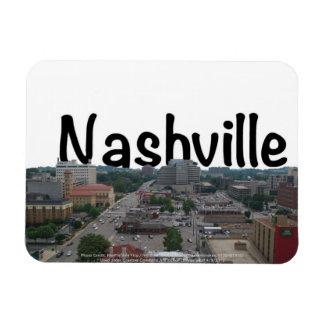 Horizonte de Nashville TN con Nashville en el ciel Iman Rectangular