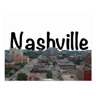 Horizonte de Nashville TN con Nashville en el ciel Tarjetas Postales