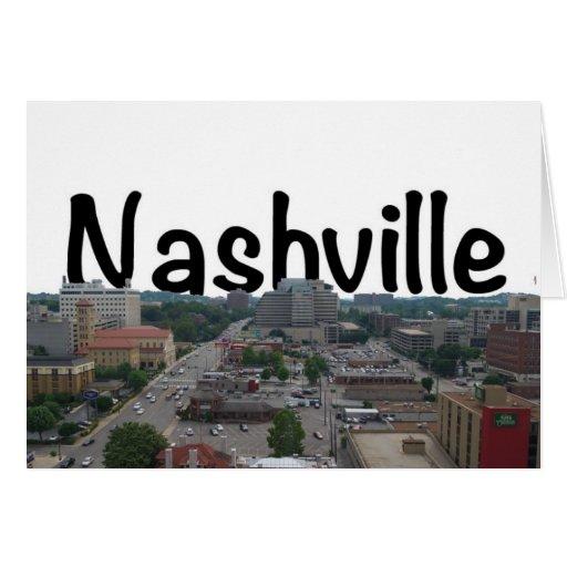 Horizonte de Nashville TN con Nashville en el Tarjeta De Felicitación