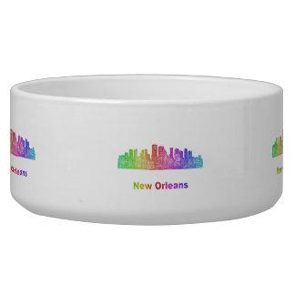 Horizonte de New Orleans del arco iris Comedero Para Mascota