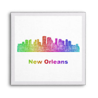 Horizonte de New Orleans del arco iris Sobres