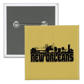 Horizonte de New Orleans Pin Cuadrado