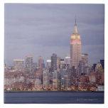 Horizonte de New York City Azulejo